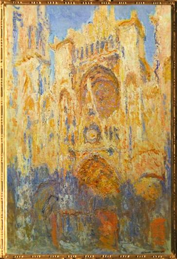 D'après la Façade de la Cathédrale de Rouen, au Soleil Couchant, Claude Monet, 1892 apjc. (Marsailly/Blogostelle)