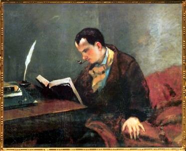 D'après le portrait de Charles Baudelaire par Gustave Courbet, 1848-1849 apjc. (Marsailly/Blogostelle)