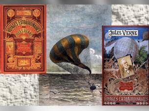 D'après Les Voyages Extraordinaires, de Jules Verne, éditions Hetzel, et une illustration d'Émile-Antoine Bayard, 1874 apjc, Un Drame dans les airs de Jules Verne. (Marsailly/Blogostelle)