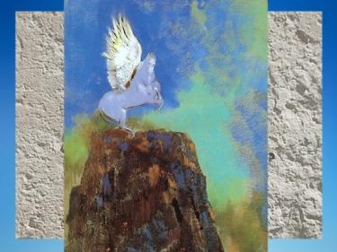 D'après Pégase, Odilon Redon, 1900 apjc, mouvement pictural symboliste Nabi. (Marsailly/Blogostelle)
