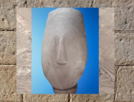 D'après un visage épuré, vers 2700–2300 avjc, Kéros-Syros, art des Cyclades. (Marsailly/Blogostelle)