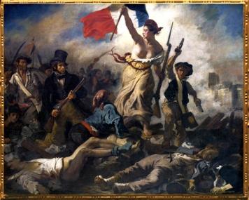 D'après La Liberté guidant le Peuple, Eugène Delacroix 1830 apjc. (Marsailly/Blogostelle)