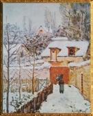D'après La Neige à Louvecienne, Alfred Sisley, 1874 apjc. (Marsailly/Blogostelle.)