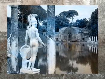 D'après la Villa Adriana, époque empereur Hadrien, IIe siècle apjc, art romain, Tivoli, Italie. (Marsailly/Blogostelle)