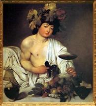 D'après Bacchus, Michelangelo Merisi da Caravaggio, dit Le Caravage, fin XVIᵉ -XVIIe siècle apjc. (Marsailly/Blogostelle.)