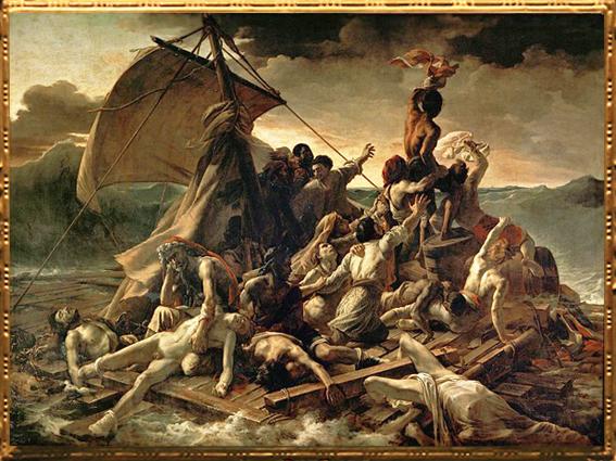 D'après Le Radeau de la Méduse, Théodore Géricault,1818-1819, D'après La Grande Odalisque, Jean-Auguste-Dominique Ingres, 1814, XIXe siècle. (Marsailly/Blogostelle)
