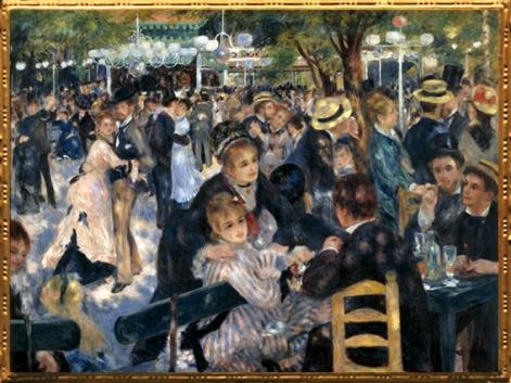 D'après Le Moulin de la Galette, Pierre Auguste Renoir, 1876 apjc. (Marsailly/Blogostelle)