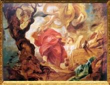 D'après Le Sacrifice d'Isaac, Pierre-Paul Rubens, 1620 apjc, Anvers, Flandre, Pays-Bas. (Marsailly/Blogostelle.)