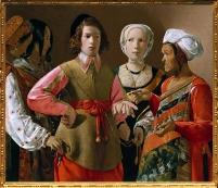D'après La Diseuse de Bonne Aventure, George De La Tour, vers 1635, apjc. (Marsailly/Blogostelle.)