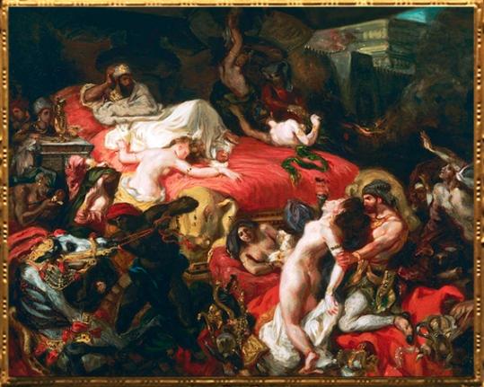 D'après La Mort de Sardanapale, Ferdinand-Victor-Eugène Delacroix, 1827 apjc. (Marsailly/Blogostelle)