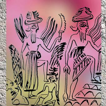 D'après le panthéon d'akkad, sommaire Histoire du Sacré. (Marsailly/Blogostelle)