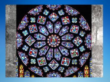 D'après la Rosace Nord de la cathédrale Notre-Dame de Chartres, XIIe-XIIIe siècles apjc, Art Gothique, France. (Marsailly/Blogostelle)