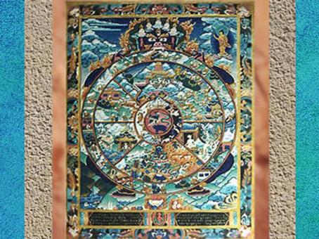 D'après une image de la Roue de la Vie : une existence et un monde dévorants... art du Népal. (Marsailly/Blogostelle)