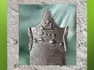 D'après un fourreau d'épée en fer, art celte, vers IIe-Ier siècle avjc, civilisation de La Tène. (Marsailly/Blogostelle)