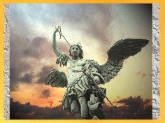 D'après l'archange Saint Michel, Peter Anton von Verschaffelt, Castel sant' Angelo, XVIIIe siècle, Rome, Italie. (Marsailly/Blogostelle)
