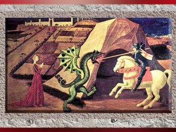 D'après Saint Georges qui transperce le dragon de sa lance, Paolo Uccello, XVe siècle apjc, Renaissance, Italie. (Marsailly/Blogostelle)