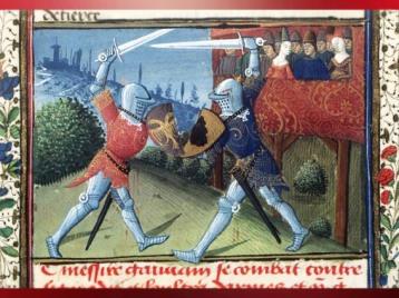 D'après le Roman de Lancelot, 1475 apjc, manuscrit de Jacques d'Armagnac, duc de Nemours, atelier d'Evrard d'Espinques, Ahun, France. (Marsailly/Blogostelle)