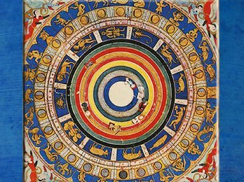 D'après une Roue Astrologique avec les phases de la Lune, XVIe siècle, Istanbul, Turquie. (Marsailly/Blogostelle)