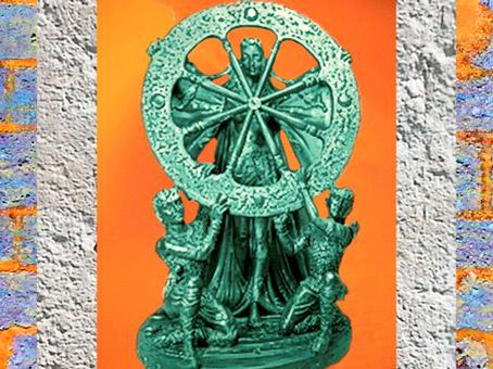 D'après une image d'Arianrhod-Roue d'Argent, déesse galloise. (Marsailly/Blogostelle)