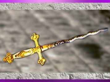 D'après l'épée maçonnique dite de La Fayette, début XIXe siècle. (Marsailly/Blogostelle)