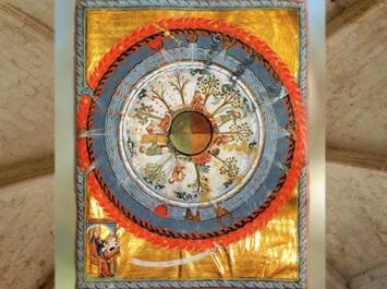 D'après Le Livre desŒuvres Divines (Liber Divinorum Operum), IVe vision, Hildegarde de Bingen (1098-1179 apjc), XIIe siècle apjc. (Marsailly/Blogostelle)