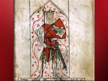 D'après le roi Arthur, Chroniques de Peter Langtoft, 1307 apjc, art médiéval. (Marsailly/Blogostelle)