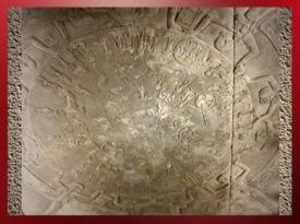D'après le Zodiaque égyptien de Dendéra, vers 50 ans avjc, chapelles d'Hathor et d'Isis, temple d'Hathor, Égypte ancienne. (Marsailly/Blogostelle)