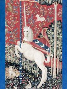D'après Le Goût, détail, tapisserie de La Dame à la Licorne, vers 1500 apjc, art médiéval. (Marsailly/Blogostelle)