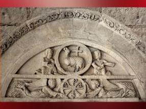 D'après l'Agneau Mystique, les deux Saint Jean et le Chrisme, XIIe siècle, Armentia, Pays Basque Espagnol. (Marsailly/Blogostelle)