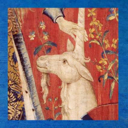 D'après Le Toucher, détail, tapisserie de La Dame à la Licorne, vers 1500 apjc, art médiéval. (Marsailly/Blogostelle)