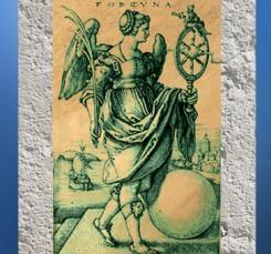D'après une image allégorique de Fortuna, Hans Sebald Beham, gravure allemande du XVIe siècle. (Marsailly/Blogostelle)