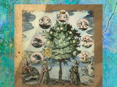 D'aprèsune image alchimique, la correspondance entre les métaux et les planètes dans l'opus de l'alchimie, XVIIe siècle. (Marsailly/Blogostelle)