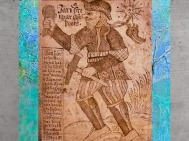 D'après le dieu Thôrr, son marteau Mjöllnir et sa ceinture de force, manuscrit du XVIIIe siècle, Islande. (Marsailly/Blogostelle)