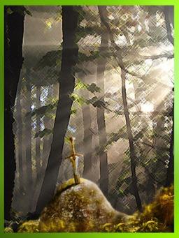 D'après la légendaire épée Excalibur, plantée dans son rocher, cycle Arthurien. (Marsailly/Blogostelle)