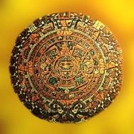 D'après le calendrier solaire aztèque dit Pierre du Soleil, XVe siècle, Mexico. (Marsailly/Blogostelle)