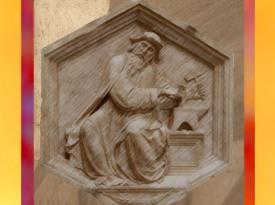 D'après une sculpture de Luca di Simone della Robbia, L'Harmonie, Tubalcaïn, le forgeron biblique, Italie, XVe siècle apjc. (Marsailly/Blogostelle)