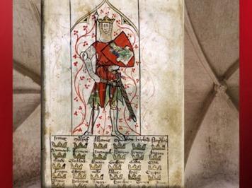 D'après le roi Arthur, et les couronnes des royaumes conquis, Chroniques de Peter Langtoft, 1307 apjc, art médiéval. (Marsailly/Blogostelle)
