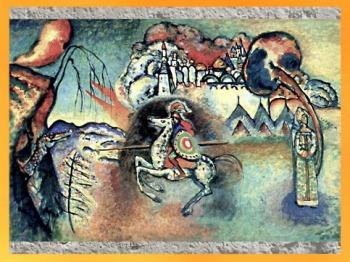 D'après Saint Georges et le Dragon, Vassily Kandinsky, 1915. (Marsailly/Blogostelle)