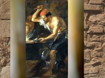 D'après Héphaïstos qui forge le Foudre de Zeus, Pierre Paul Rubens, vers 1636-1638 apjc, XVIIe siècle. (Marsailly/Blogostelle)
