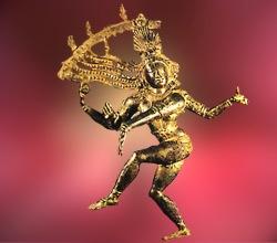 D'après Çiva Natarâja, Roi de la danse cosmique, bronze, art Chola, XIe siècle apjc. (Marsailly/Blogostelle.)