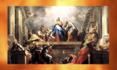 D'après La Pentecôte, de Jean Restout, XVIIIe siècle, art classique Français. (Marsailly/Blogostelle)