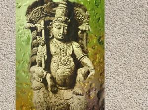 D'après le dieu védique Soma, présenté comme l'âme et le centre du sacrifice dans le Rig-Veda, Inde ancienne. (Marsailly/Blogostelle)