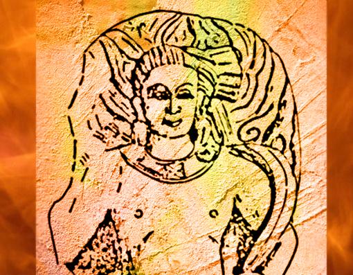 D'après le dieu védique du Feu, Agni, Mathurâ, Ier-IIe siècle apjc, Uttar Pradesh, Inde ancienne. (Marsailly/Blogostelle)