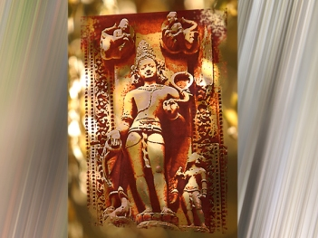 D'après le grand dieu védique Varuna, sur relief sculpté vers le XIe siècle apjc, Bhubaneswar, Orissa, Inde. (Marsailly/Blogostelle.)