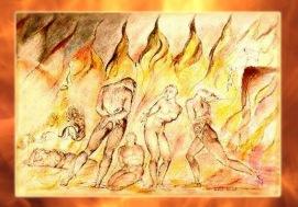 D'après L'enfer de Dante de William Blake, XVIIIe-XIXe siècle, Angleterre. (Marsailly/Blogostelle.)
