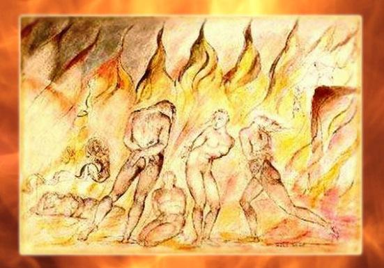 D'après L'Enfer de Dante, Divine Comédie, de William Blake, XVIIIe-XIXe siècle, Angleterre. (Marsailly/Blogostelle)