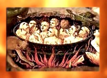 D'après le feu de l'Enfer, détail du Jugement Dernier, Fra Angelico, XVe siècle, Renaissance italienne. (Marsailly/Blogostelle)