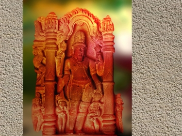 D'après ledieu Agni, haut relief, Gwalior, vers XVe siècle apjc, Madhya Pradesh, Inde ancienne. (Marsailly/Blogostelle)