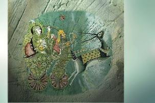 D'après une image du dieu védique Soma, parfois associé à la Lune, Inde ancienne. (Marsailly/Blogostelle)