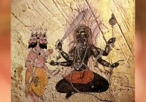D'après une image du dieu védique Rudra, face à Brâhma. (Marsailly/Blogostelle.)